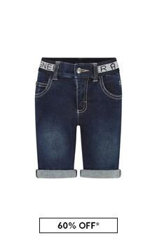 Aigner Boys Blue Cotton Shorts