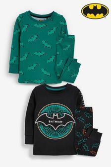 Black/Teal Batman 2 Pack Pyjamas (9mths-12yrs)