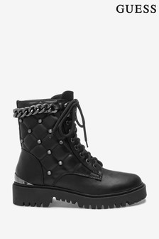 Guess Black Lori Leather Tall Boots