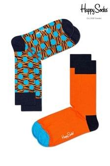 Happy Socks Navy/Multi Socks Two Pack