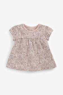 Pink Ditsy Cotton T-Shirt (3mths-7yrs)