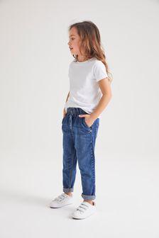 Dark Wash Gathered Waist Jeans (3-16yrs)