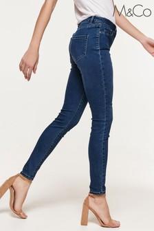 M&Co Blue Super Skinny Jeans