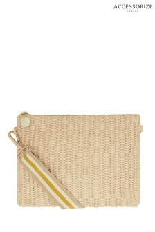 Accessorize Natural Stripe Cross Body Bag