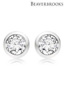 Beaverbrooks Silver Cubic Zirconia Earrings