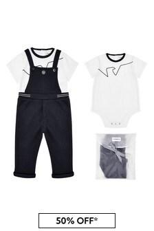 ثوب مناسب لنمو البيبي أزرق داكن أولادي منEmporio Armani