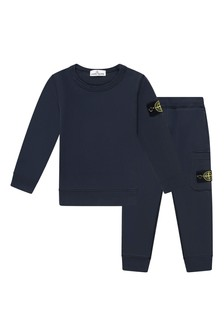 Boys Navy Cotton Tracksuit
