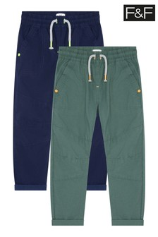 F&F Kids Multi 2 Pack Woven Trousers