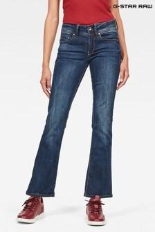 G-Star Dark Wash Midge Saddle Skinny Bootcut Jean