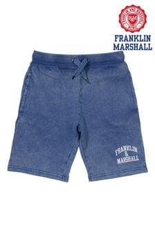 Franklin & Marshall Blue Vintage Arch Sweat Shorts