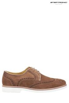 Steptronic Brown Quantum Lace-Up Shoes