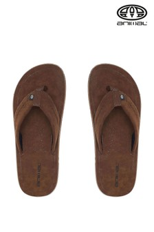 Animal Brown Hyde Flip Flops