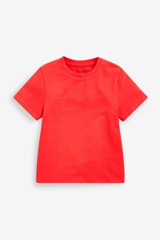 Red Relaxed Basic T-Shirt (3-16yrs)