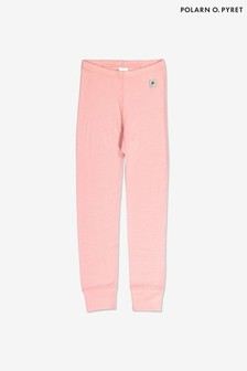 Polarn O. Pyret Pink Soft Merino Thermal Long Johns