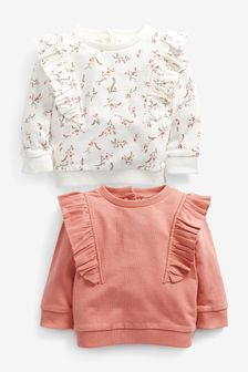 Pink 2 Pack Sweat Tops (0mths-2yrs)
