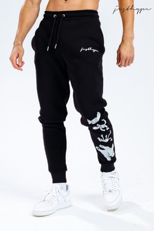 Hype. x Sesame Street Black Scribble Logo Taped Character Adults Joggers