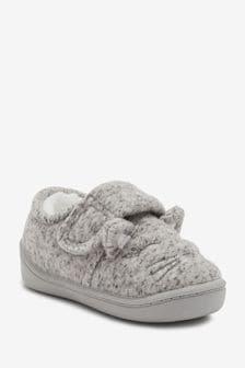 Grey Cat Cupsole Slippers