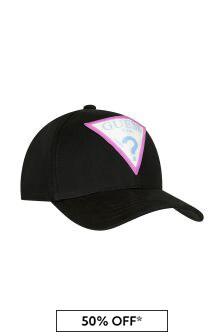 قبعة كاب قطن سوداء بناتي