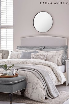 Laura Ashley Dove Grey Pussy Willow Duvet Cover and Pillowcase Set