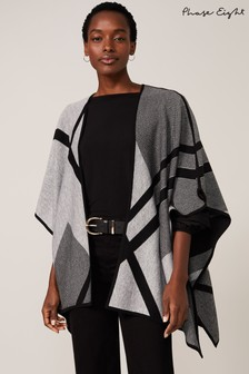 Phase Eight Grey Nel Abstract Oversized Cape
