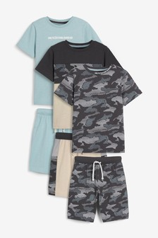 Mineral Camo 3 Pack Short Pyjamas (3-16yrs)