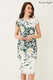 Phase Eight White Claudine Floral Lace Dress