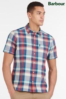 Barbour® Blue Madras 7 Short Sleeved Summer Shirt
