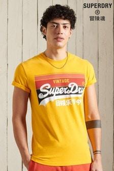 Superdry Vintage Logo Cali Stripe T-Shirt
