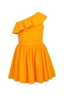 فستان قطن برتقالي بناتي منMolo