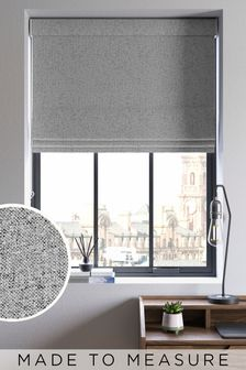 Soft Marl Grey Made To Measure Roman Blind