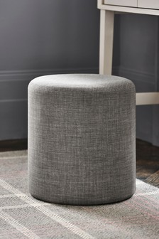 Simple Contemporary Silver Milan Stool