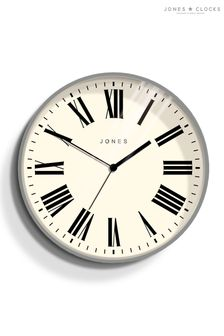 Jones Clocks Magazine Grey Wall Clock