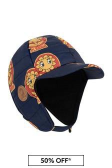 Girls Navy Insulator Flower Cap