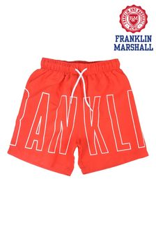 Franklin & Marshall Red Outline Logo Swimsuit