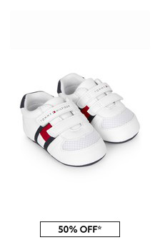 Tommy Hilfiger Baby Kids White Trainers