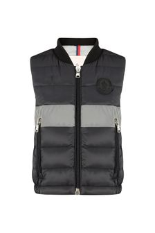 Baby Boys Black Down Padded Lauch Gilet