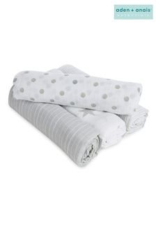 aden + anais Essentials Grey Muslin Swaddle Blankets Four Pack