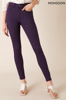 Monsoon Purple Nadine Organic Cotton Regular Denim Jeans