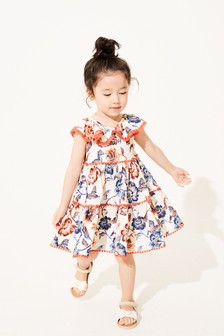 Ecru Floral Organic Cotton Sundress (3mths-7yrs)