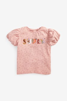 Pink Appliqué Slogan T-Shirt (3mths-7yrs)