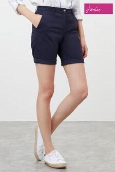 Joules Blue Longer Length Chino Shorts