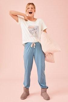 Blue Bunny Photographic Pyjamas