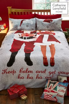 Selfie Santa Duvet Cover and Pillowcase Set by Catherine Lansfield