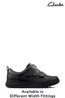 Clarks Kids Black Scape Sky Shoe