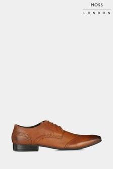 Moss London Lucan Tan Brogue Shoes