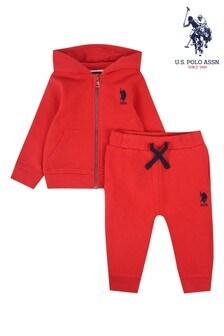 U.S. Polo Assn. Red Core Sweat Set