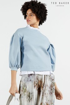 Ted Baker Blue Irissa Puff Sleeve Sweater