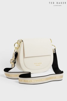 Ted Baker Cream Amali Branded Webbing Strap Cross-Body Bag