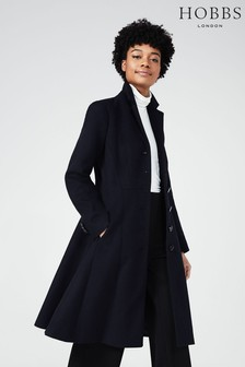 Hobbs Navy Milly Coat
