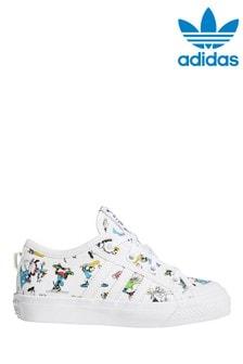 adidas Originals White Disney™ Nizza Junior Trainers